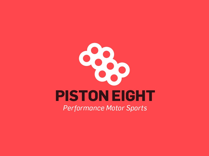 Piston eight performance motor sports logo for sale