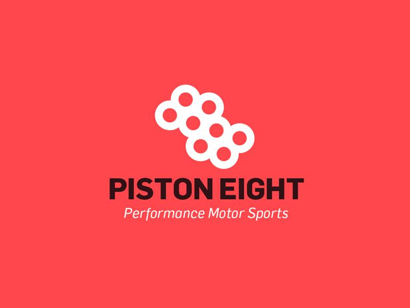 Piston eight performance motor sports logo for sale