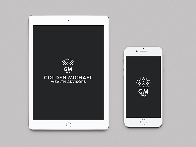 Golden michael wealth advisors iphone ipad mockup design