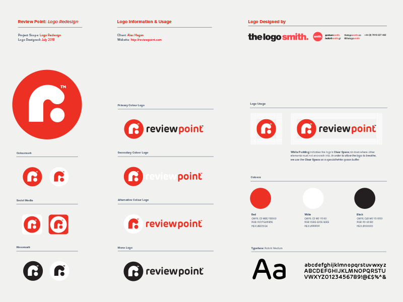 Review Point Logo Usage Guidelines Template For Download By