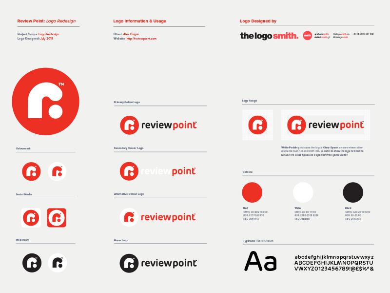 Review Point Logo Usage Guidelines Template For Portfolio Brand Ideny Designer