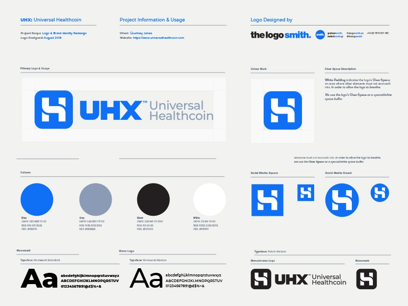 Uhx Universal Healthcoin Logo Usage Guidelines Template By