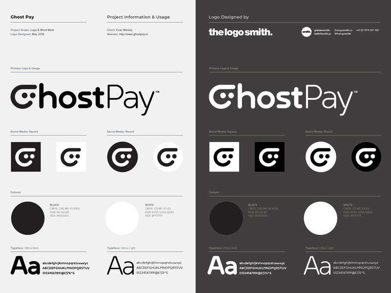 Ghost Pay Logo Designed By @TheLogoSmith brand brand identity icons logo marks logo designer logos payment app crypto currency ghost icon typography branding identity logo portfolio logo design