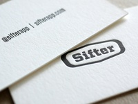 Sifterapp.com Logo & Letterpress Business Cards by @TheLogoSmith