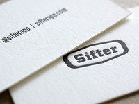 Sifter Logo & Letterpress Business Cards