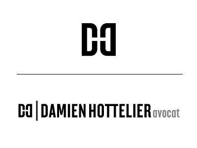 Damien hottelier logo design