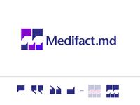 Medifact.md Logo Designed by @TheLogoSmith