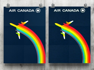 Vintage Air Canada Logo Poster Design - Recreated for Download freebies freebie free vintage design vintage posters poster design logos typography branding logo portfolio logo design