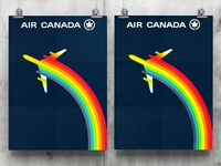 Vintage Air Canada Logo Poster Design - Recreated for Download
