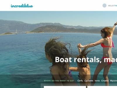 Incrediblue Homepage incrediblue marketplace homepage search boat rentals testimonial