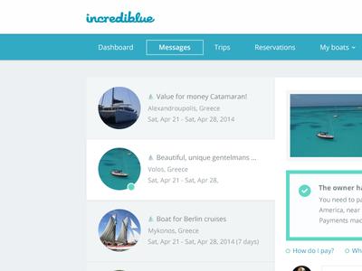 User Inbox  dashboard inbox messages messaging tabs web application flat