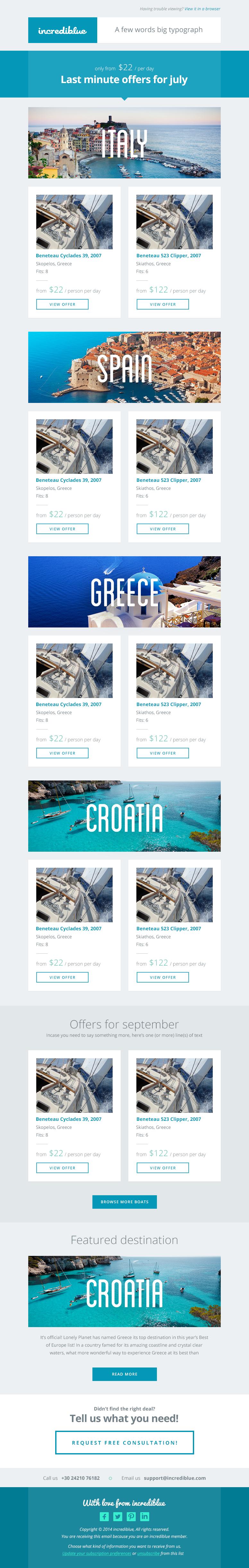 Newsletter offers