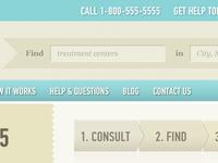 Website Header & Steps