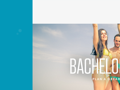 Landing page design: Bachelor party on a yacht