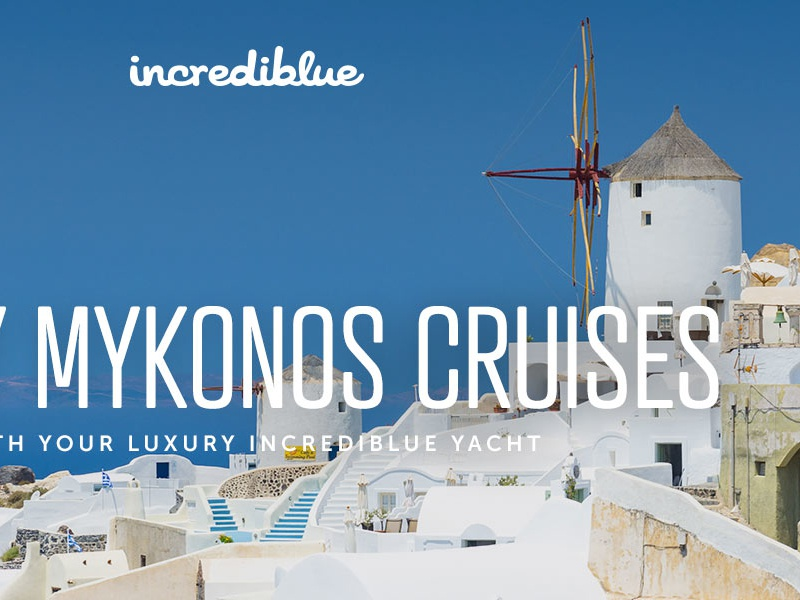 Yacht Cruises Landing Page mykonos video testimonials travel cruises boat yacht landing page