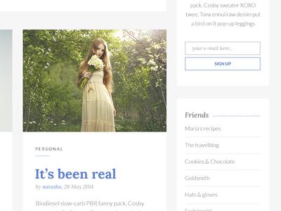 Blogging Theme for WordPress feminine femme white minimal theme blog