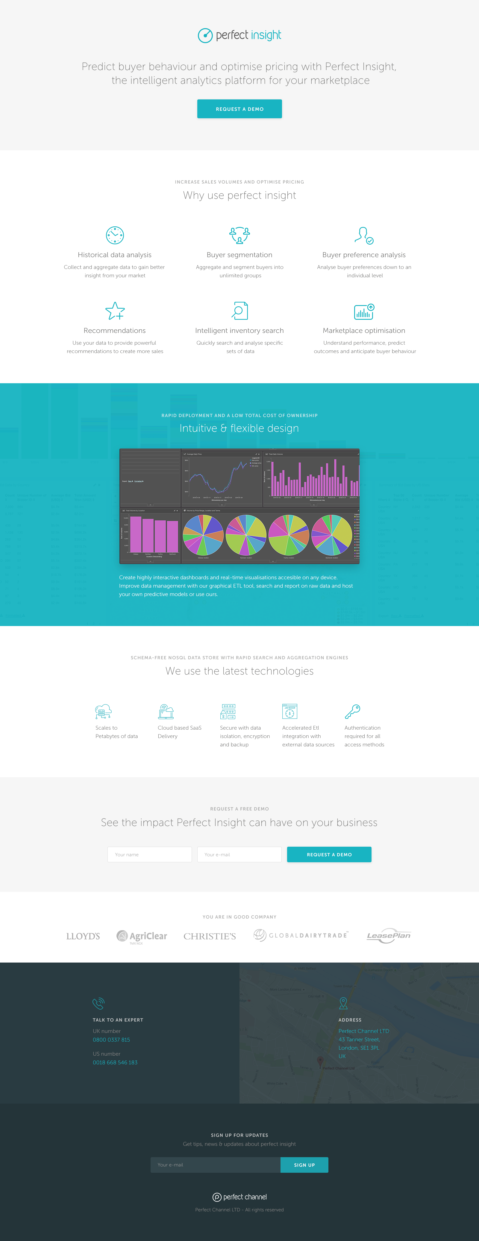 Perfect insight landing page