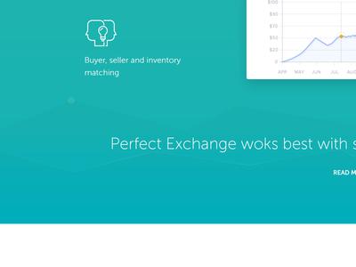 Auction & Trading Platform landing page features graph green web app web application big screenshots icons landing page platform trading auctions