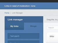 Link manager web app