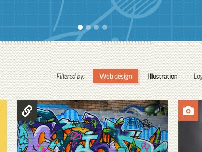 Portfolio WordPress Theme wordpress theme portfolio slider texture pattern filters post types