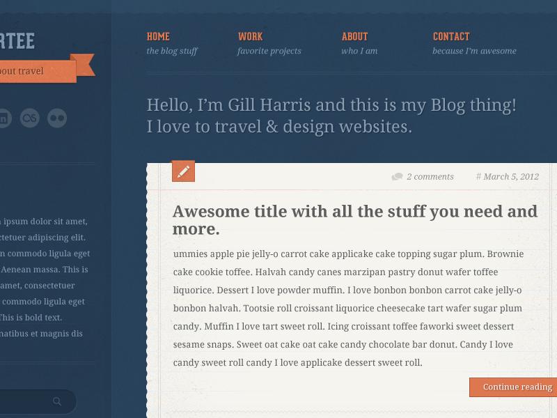 Tumblr Style WordPress Theme tumblr wordpress theme ribbon paper texture post type