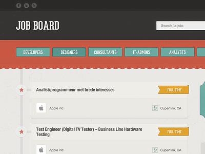 Job board ribbon texture button wave job board