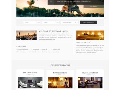 Hotel Theme travel hotel wordpress theme pattern minimal boostrap big slider