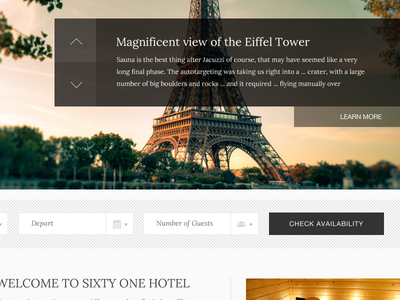 Hotel Theme travel hotel wordpress theme pattern minimal boostrap big slider