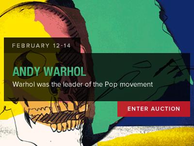 Andy Warhol Auction auction bid lot lots slider lot listing andy warhol