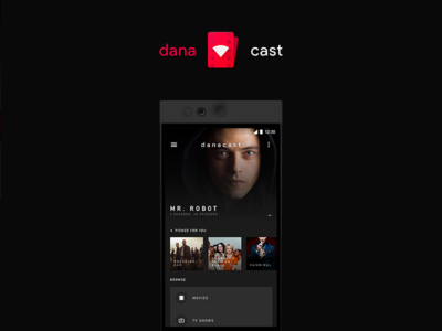 Danacast Concept tv tv shows movies material design casting concept