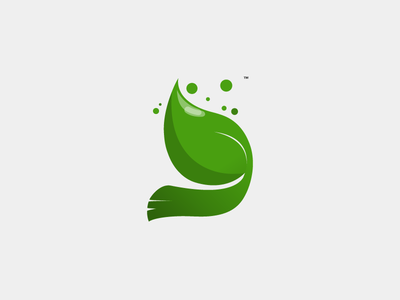 Dawarha Recycling Logo negative space leave illustrator 2d concept mark logofolio recycle logo