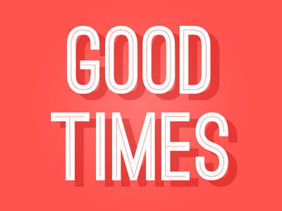good times typography logo