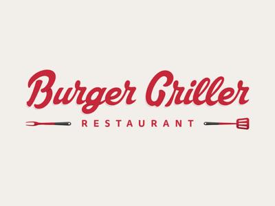 Burger Griller | Logo typography prototype logotype logo branding restaurant