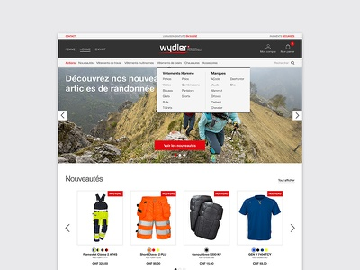 Wydler | E-commerce landing store homepage shop webdesign ecommerce e-commerce clothes swiss