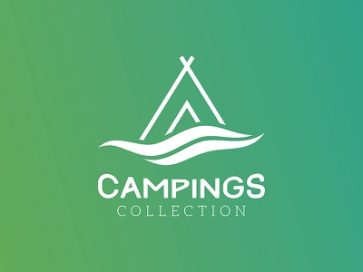Campings Collection | Logo pictorial typography camping prototype logotype logo branding