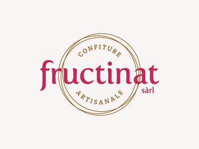 Fructinat | Logo homemade jams typography swiss logotype logo jam branding
