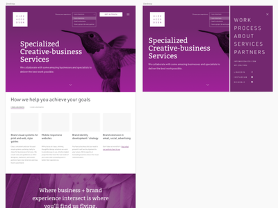 process_web_studio_studies_purple navigation identity brand logo ux ui webdesign website web