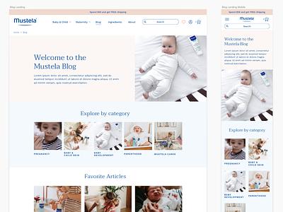 Mustela-USA france shopify skin baby ecommerce website web design web brand ux ui