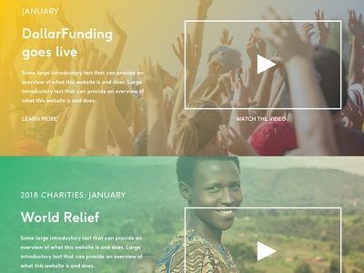 Dollarfund UI video ux web currency charity website wip