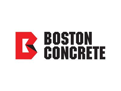 Boston Concrete Logo boston service concrete brand mark type identity logo