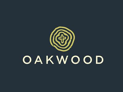 Oakwood Church Logo church logo brand identity