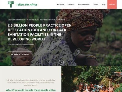 Toilets Africa Website (coming soon) website ui web charity africa nonprofit giving brand identity
