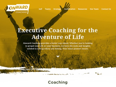 Onward Coaching WIP video ux web character coaching website wip