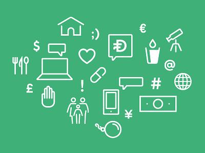 Dollarfund Icons charity brand icons