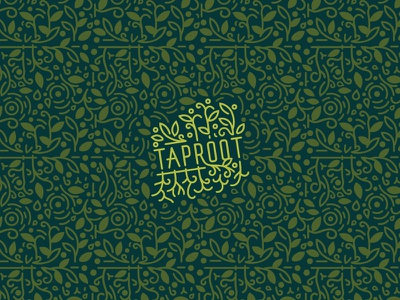 Taproot repeat pattern system repeat floral youth pattern logo