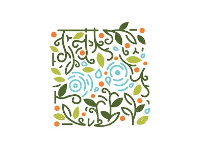 Taproot Repeat Pattern repeat pattern floral system logo