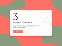 Three Dribbble Invites Giveaway