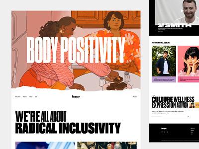 I WEIGH editorial platform ux ui interactive design branding
