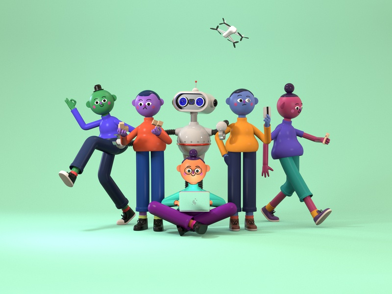 Nesta Future Predictions toyfight 3d art character characterdesign colors color c4d 3d illustration