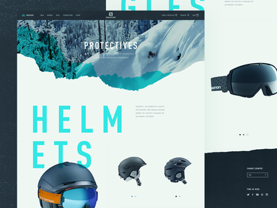 Salomon Commerce Site - Concepts website typography products e-commerce design brand snow ski salomon